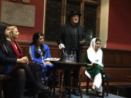 @TeamBilawalPPP @rvschofield and @georgegalloway present at Oxford Union with @AseefaBZ to pay tribute to #SMBB #BhuttoReturns 1