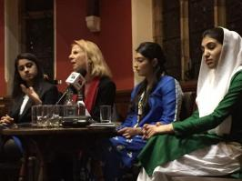 @TeamBilawalPPP @rvschofield and @georgegalloway present at Oxford Union with @AseefaBZ to pay tribute to #SMBB #BhuttoReturns