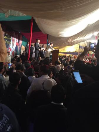 @drkhanns Co Chairman @AAliZardari Giving Brilliant & Visionary speach #PPPFoundationDay &Crowd is overwhelming & much Excited