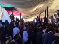 @drkhanns #PPPFoundat3ionDay Jiyalas coming&longest queue waiting at BH Gate Crowd is swelling rapidly @BBhuttoZardari @AseefaBZ