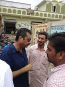 @ibrohi31 Khi Division President Najmi Alam #PPP inspecting the on going work at Hijrat Colony PS112-NA250 @ShahNafisa 4