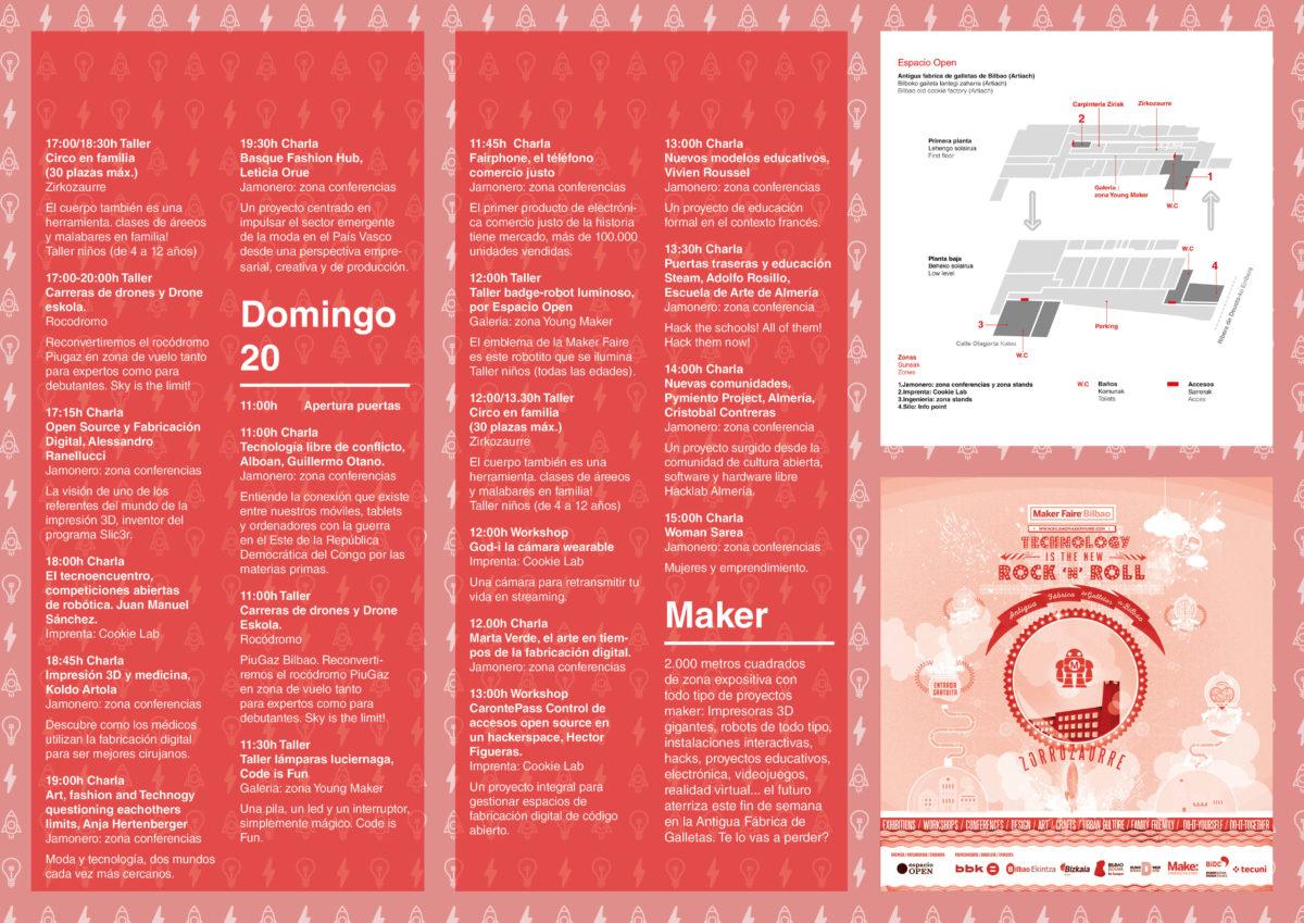 Programación Maker Faire Bilbao 2016 Sabado y Domingo