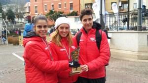 Saioa Elaso, Eguzkiñe Aspiazu y Silvia Vega en el campeonato de Bizkaia de Cross Master
