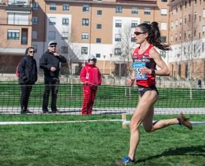 Elena Loyo durante el Campeonato de España de Cross de Clubes 2018