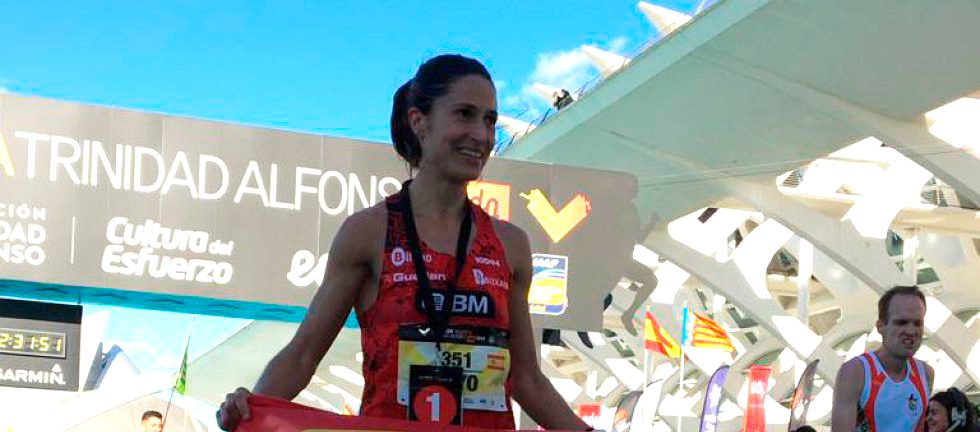 Elena Loyo regresa al maratón con marca personal y récord de Euskadi