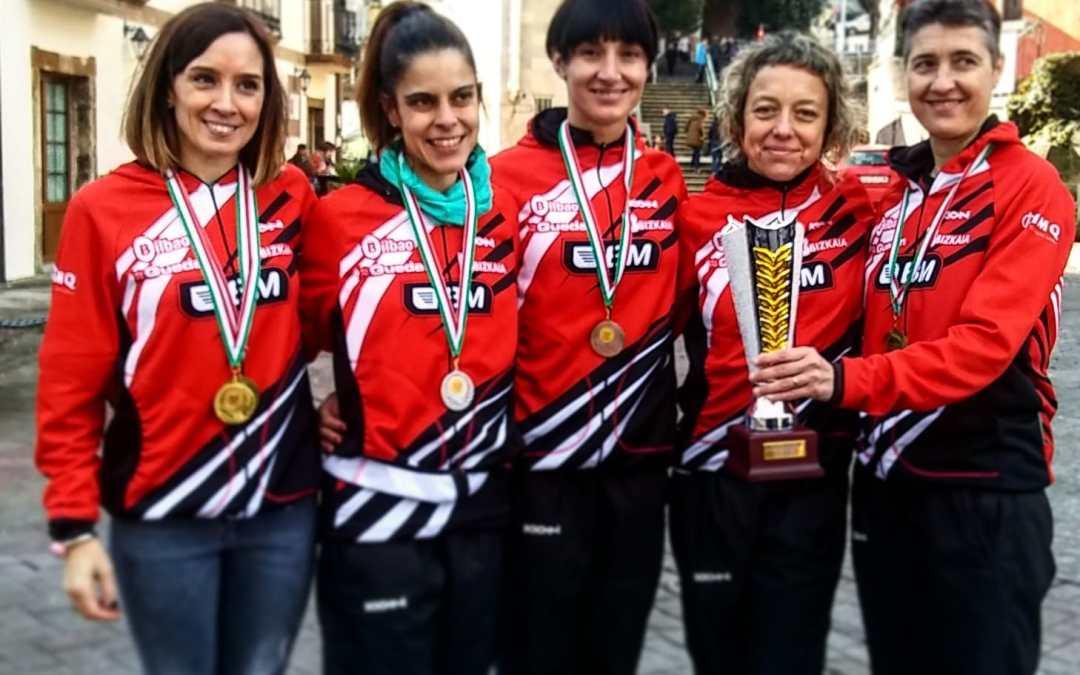 Las masters del Bilbao Atletismo Santutxu ganan el primer título de la temporada