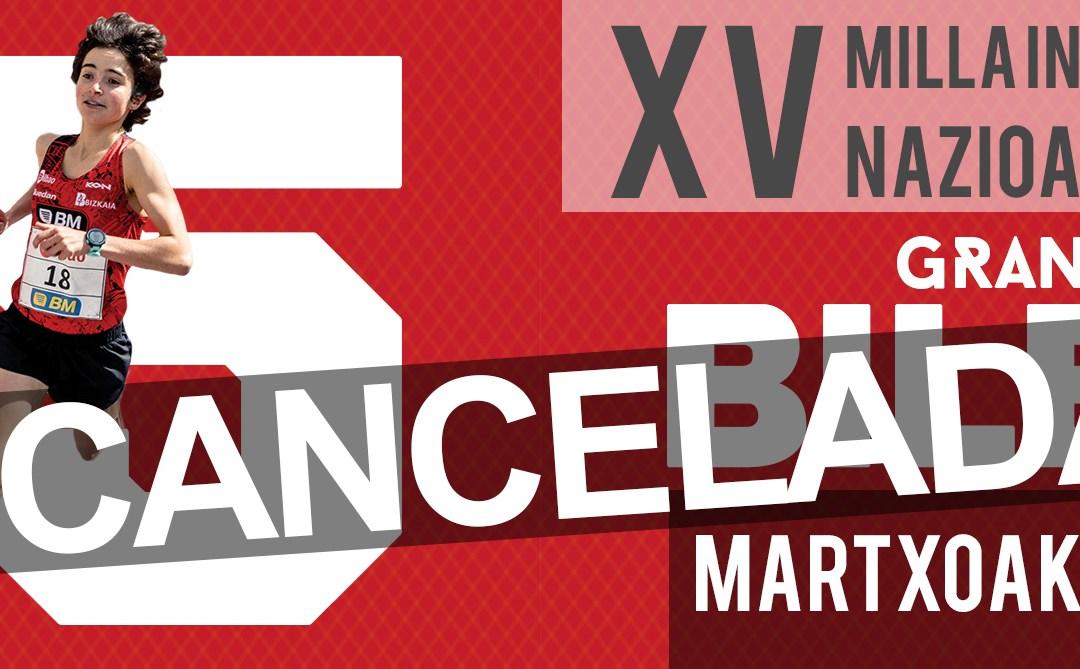 Cancelación de la XV Milla Internacional de Bilbao