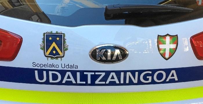La policía local de Sopela realiza un balance positivo de las actuaciones del 2017