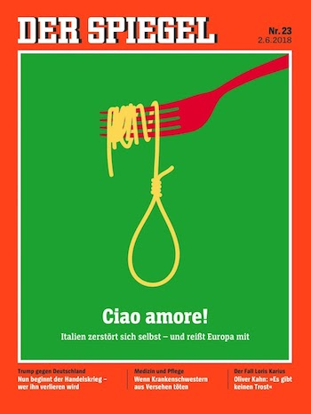 German press and its politicians lose the plot for Spiegel cover juni 2018