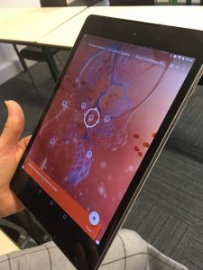 Google expeditions - tablet image