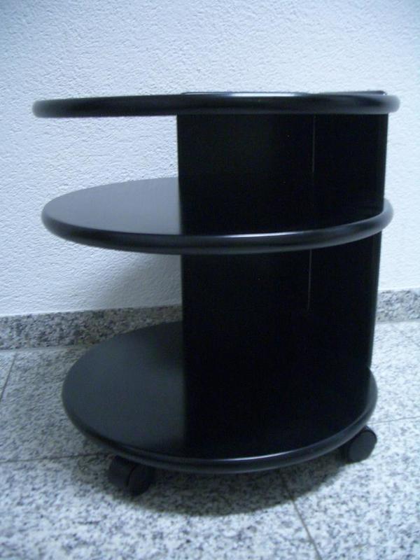 Tisch BeistelltischBistrotische halbrund schwarz m 2