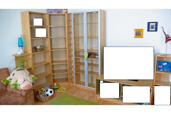Moderne Ikea Wohnwandwohnzimmer (billy System) In