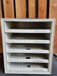 Schubladenbox DIN A4, 5 offene Schubladen (einzeln zu ...