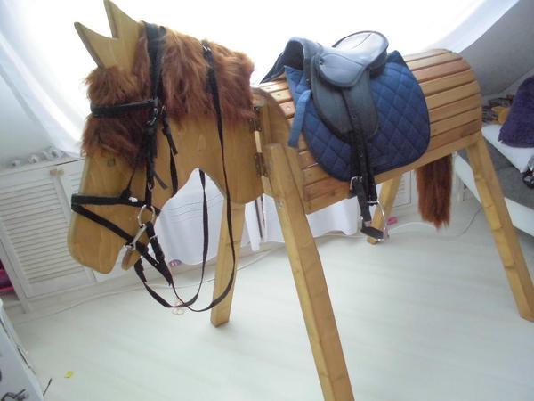 voltigierpferd holz mit sattel » terrassenholz,