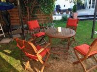 Hochwertige GARTEN TEAK-Holz Sitzgruppe mit Tisch und ...
