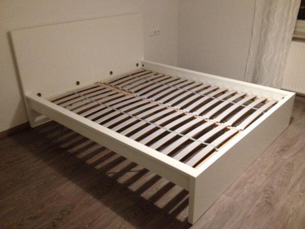 Ikea Malm Bett 90x200 Birke Monref Net