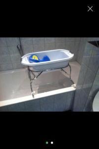Babybadewanne mit Badewannenaufsatz und Liege in Dornbirn