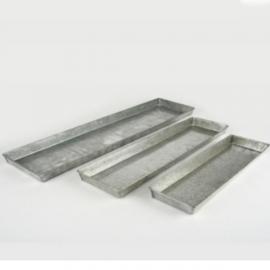 Deko Tablett lnglich rechteckige Untersetzer aus Metall