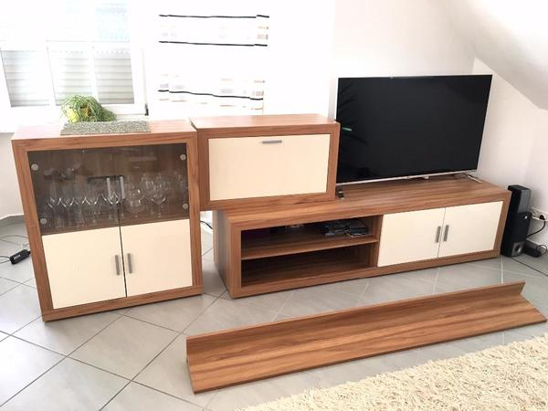 Wohnwand Wohnzimmer Schrank Schrankwand TV