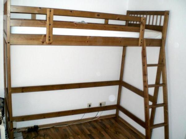 Ikea Holz Hochbett hochbett ikea kleinanzeigen hochbett holz 140 x 200 cm mit matratze von