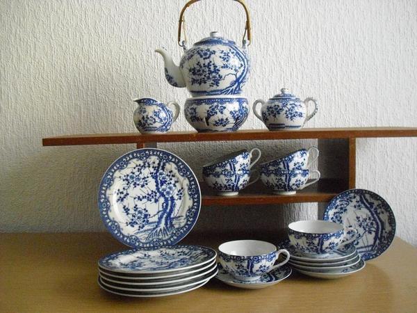 Japanisches Teeservice Dekor Kirschblte in Darmstadt  Geschirr und Besteck kaufen und