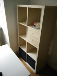 IKEA KALLAX Regal (4x2) mit Schubladen Einsatz und 2 DRNA ...