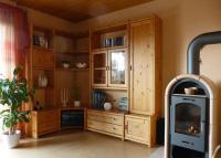 Schrankwand Regalsystem Wohnzimmer Kiefer massiv in