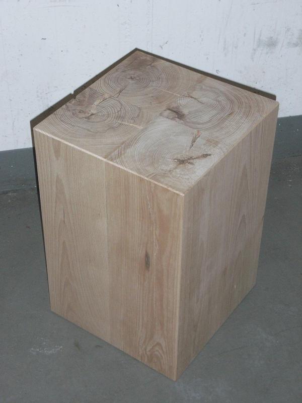 Couchtische  Holzblock Holzwrfel Holzklotz Hocker Tisch Ablage Kubus Massiv Buche Holz