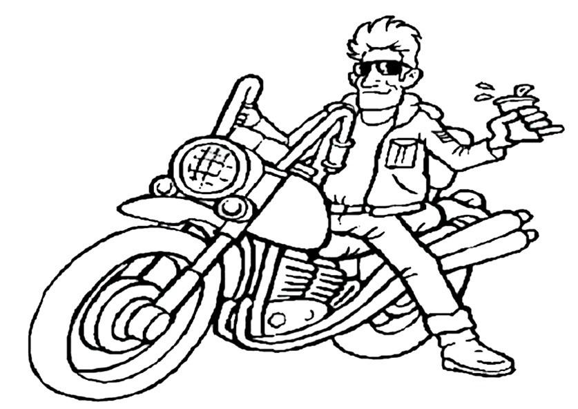 Ausmalbilder Motorradfahrer