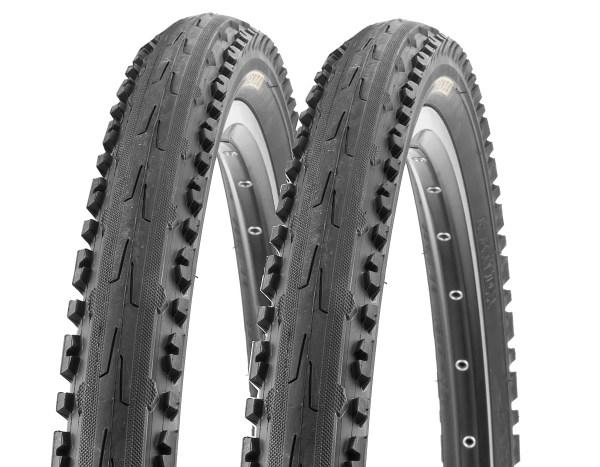 2 X Kenda Bike Semislick Mtb Tyres -847 50-559 26x1.95