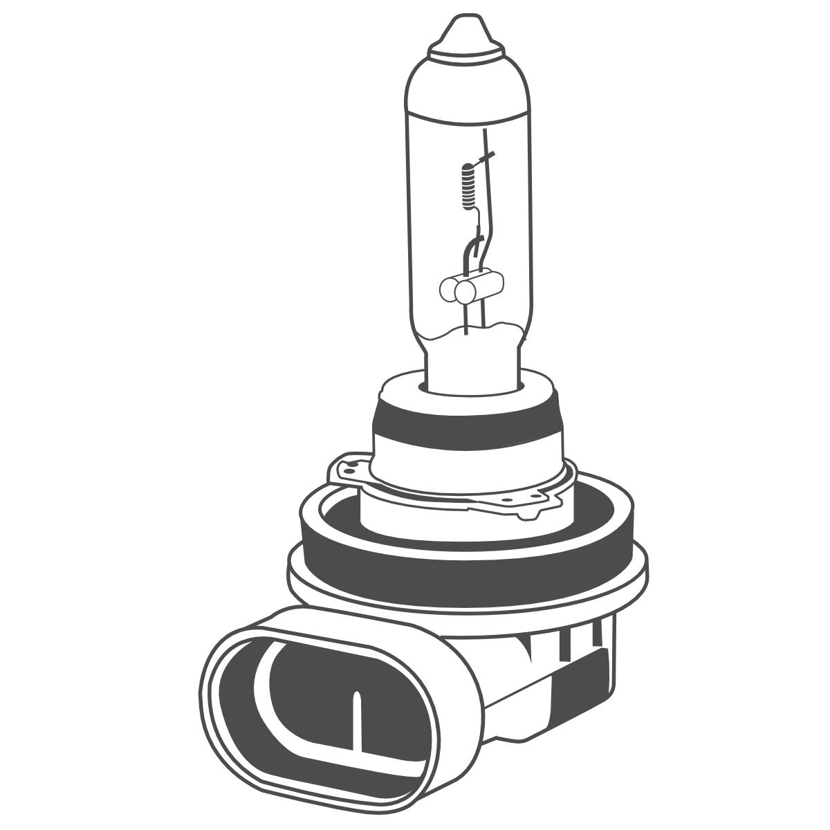 10x Brehma H11 Halogen Lamp 55w 12v Pgj19 2 Bulb Car Lamp