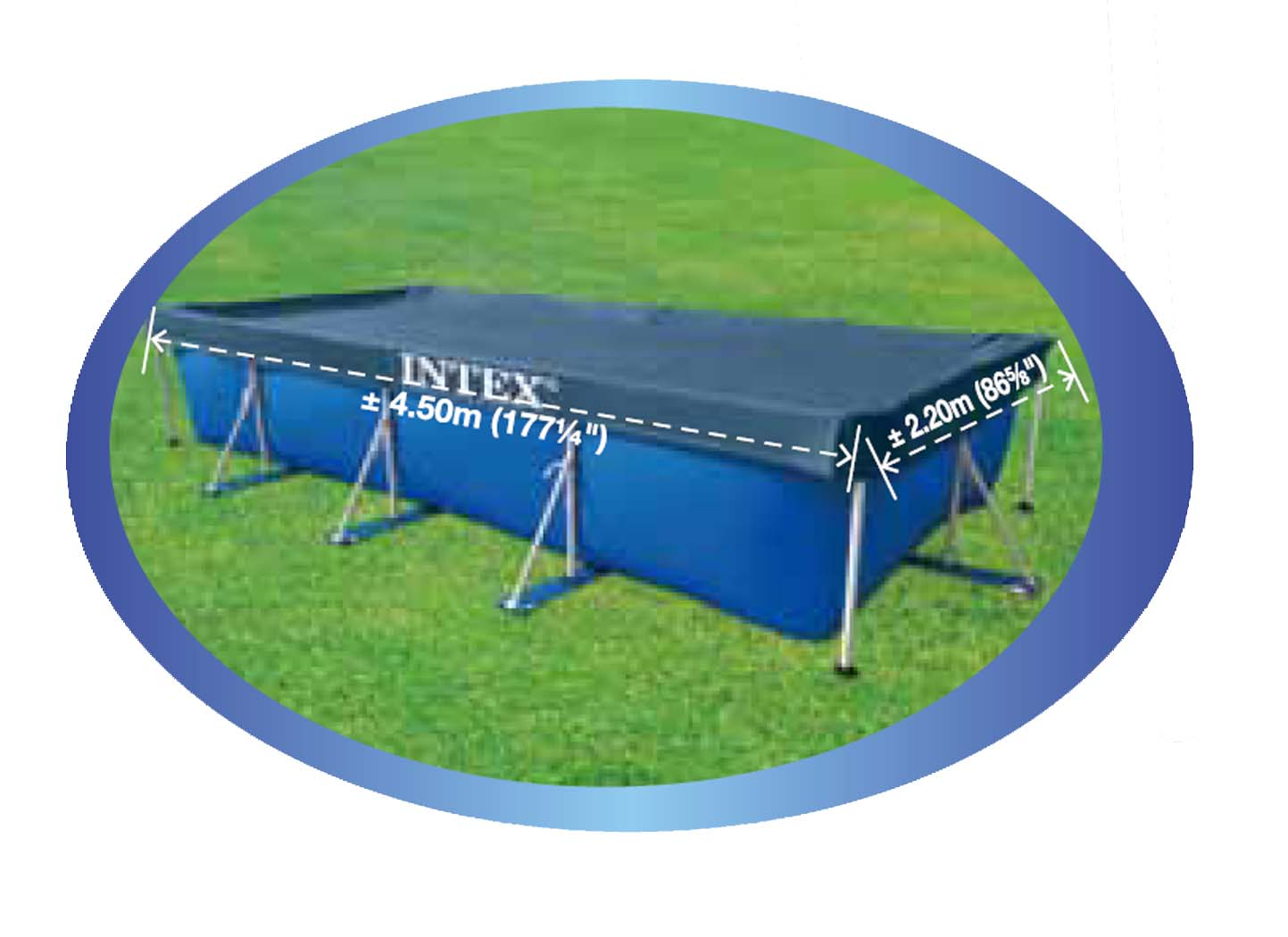 Abdeckplane Family Pool Intex Easy Set Pool Ø 396 X 84 Cm Quick Up Pool Becken