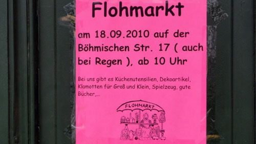 Flohmarkt am 18. September