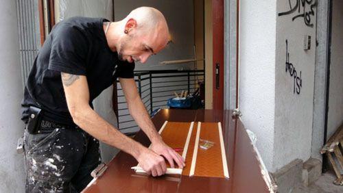 Stefan Enders arbeitet mit viel Liebe zum Detail am neuen Meggy´s.