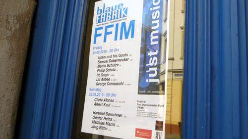 Anklicken für mehr Infos zum Festival frei improvisierter Musik in der Blauen Fabrik.
