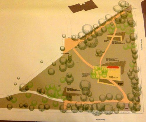 Planungsskizze für die südöstliche Ecke.