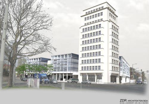 Dieser Entwurf wird derzeit vom Gestaltungsbeirat Dresden favorisiert. Visualisierung: ZDR Architekten