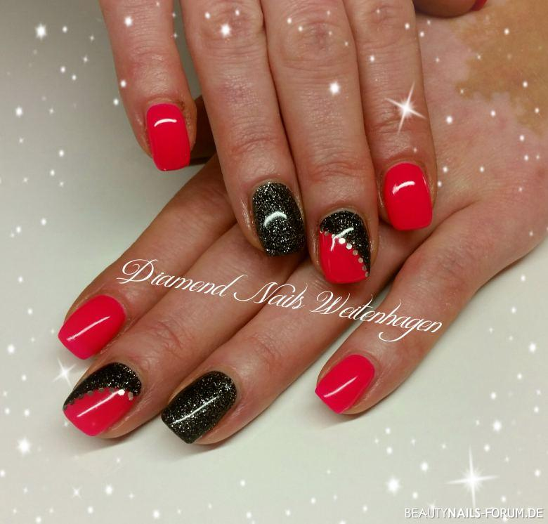Outstanding Nails Schwarz Pink Picture Collection - Nail Art Design ...