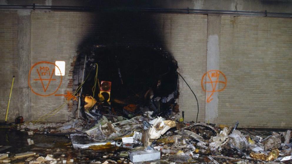 Das Pentagon kurz nach dem Anschlag