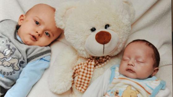 Die Brüder kamen mit der Erbkrankheit Hydrozephalus zur Welt