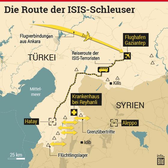 Die Route der ISIS-Schleuser