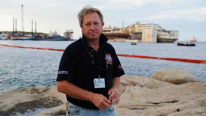 Nick Sloane led the 2014 salvage operations on the Costa Concordia, which had sunk two years earlier