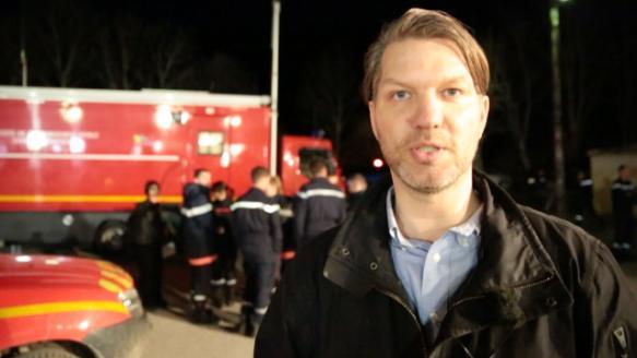 Alas accidente alemán: reportero BILD informando desde Seyne Les Alpes