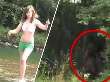 Bigfoot sighting in Poland - Apeman caught on video stalking bikini girl - News - Bild.de