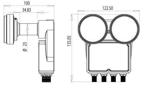 Inverto Doppel Monoblock LNB DIGITAL QUAD Astra Hotbird