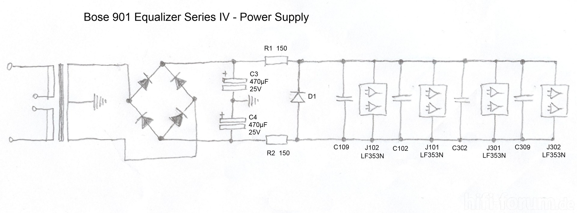 hight resolution of  bose 901 equalizer iv schematic detail power supply 214315 bose 901 equalizer schematic bose 901 wiring diagram