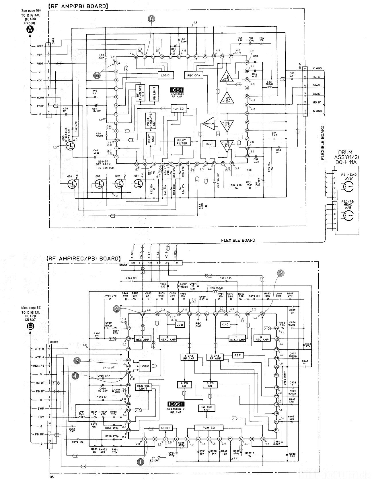 Sony Pcm A Schematic Detail Head Amps