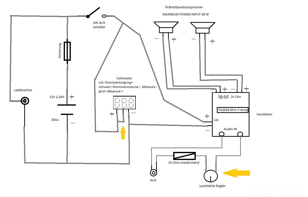 Schaltplan Fur Tragbarer Lautsprecher
