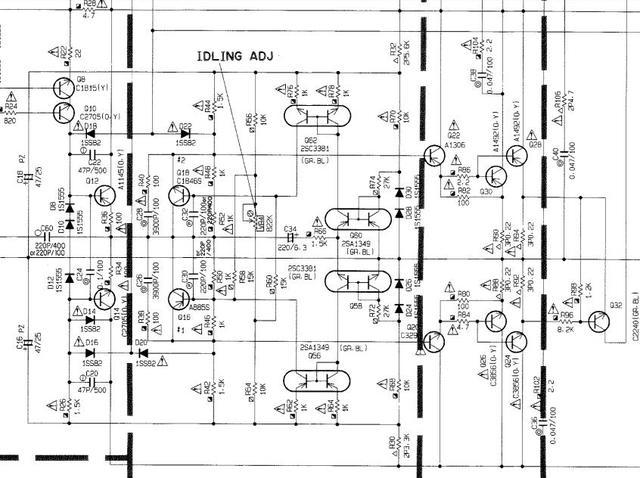 Yamaha MX-630 einseitig kurzgeschlossen, Elektronik