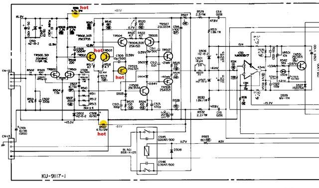 Denon POA-6600A einige Transistoren sehr Heiß, Hifi